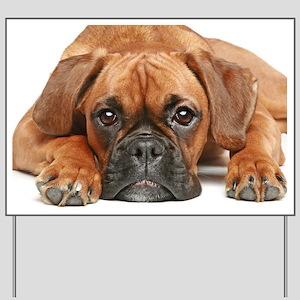 Yard Sign - German Boxer dog