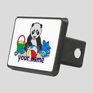 Personalized Beach Panda Hitch Cover