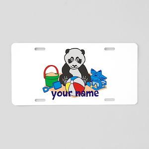 Personalized Beach Panda Aluminum License Plate