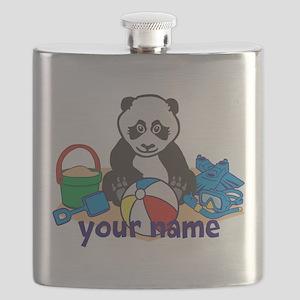 Personalized Beach Panda Flask