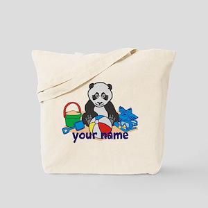Personalized Beach Panda Tote Bag