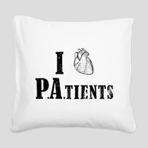 I Heart Patients Square Canvas Pillow