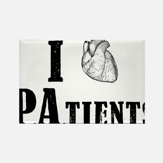 I Heart Patients Rectangle Magnet