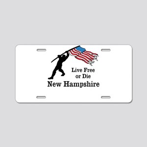 Live Free Aluminum License Plate