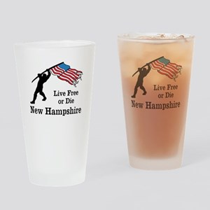 Live Free Drinking Glass