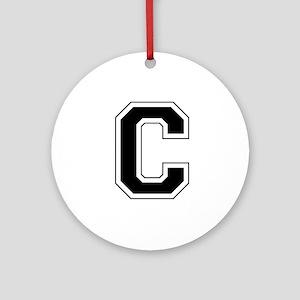 Collegiate Monogram C Ornament (Round)