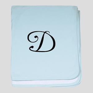 A Yummy Apology Monogram D baby blanket