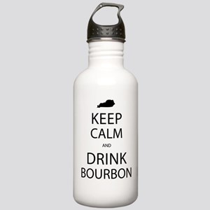 Keep Calm and Drink Bourbon Water Bottle