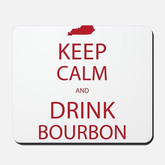 Keep Calm and Drink Bourbon Mousepad