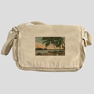 Vintage Coconut Palms Messenger Bag