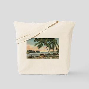 Vintage Coconut Palms Tote Bag