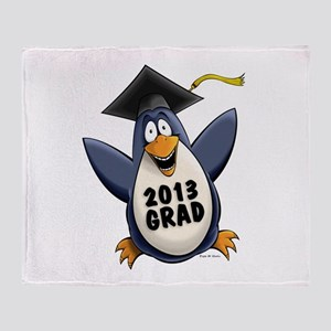 2013 Graduate Penguin Throw Blanket