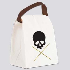 Skull with Drumsticks Canvas Lunch Bag