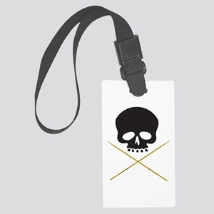 Skull with Drumsticks Luggage Tag