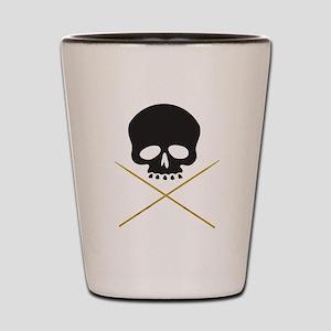 Skull with Drumsticks Shot Glass