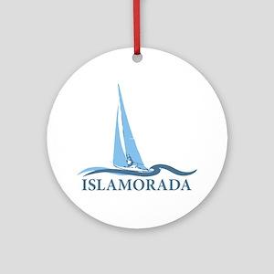 Islamorada - Sailing Design. Ornament (Round)