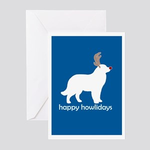 "Newfoundland ""Happy Howlidays Greeting Cards (Pack"
