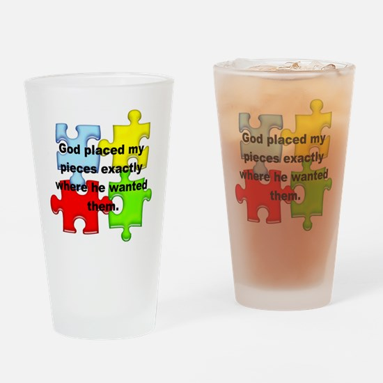 Autism Drinking Glass