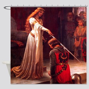 Knighting the Knight Shower Curtain