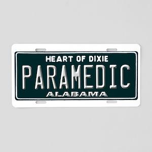 Alabama Paramedic Aluminum License Plate