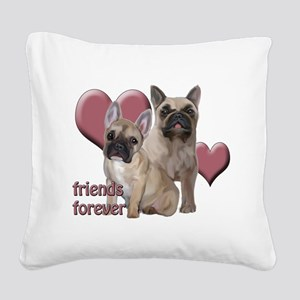 Friends Forever Square Canvas Pillow