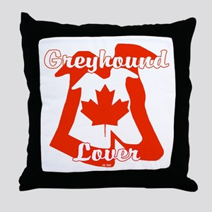 CANADIAN GREYHOUND LOVER Throw Pillow