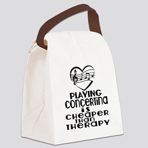 Concertina Is Cheaper Than Therap Canvas Lunch Bag
