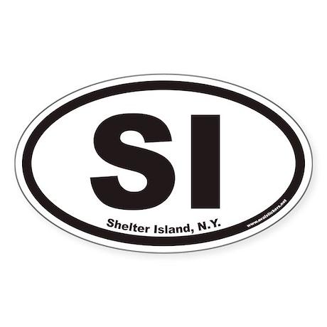 Shelter Island SI Euro Oval Sticker