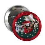 Harness Racer Red Xmas Button