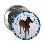 Arab Foal Merry Christmas Button