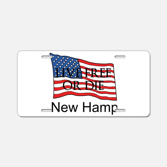 New Hampshire Aluminum License Plate