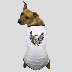 Skull, guitars, and wings Dog T-Shirt