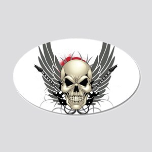 Skull, guitars, and wings Wall Decal