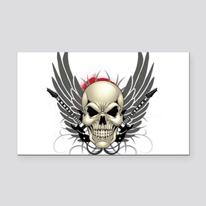 Skull, guitars, and wings Rectangle Car Magnet