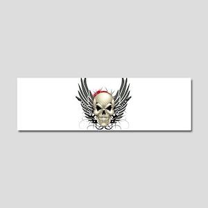 Skull, guitars, and wings Car Magnet 10 x 3