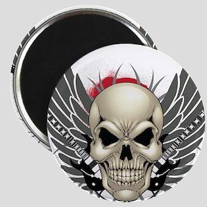 Skull, guitars, and wings Magnet