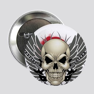 """Skull, guitars, and wings 2.25"""" Button"""