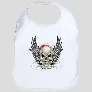 Skull, guitars, and wings Bib