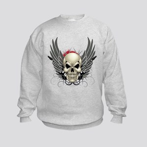 Skull, guitars, and wings Sweatshirt