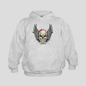 Skull, guitars, and wings Hoodie