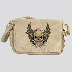 Skull, guitars, and wings Messenger Bag