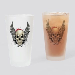 Skull, guitars, and wings Drinking Glass