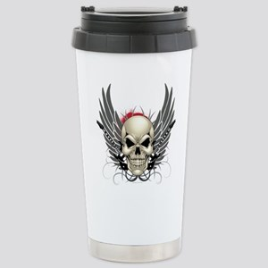 Skull, guitars, and wings Travel Mug