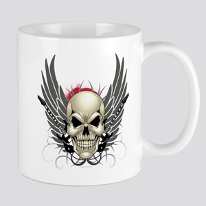 Skull, guitars, and wings Mug