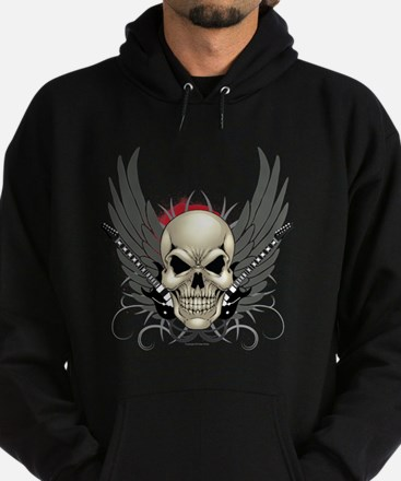 Skull, guitars, and wings Hoodie