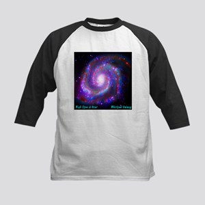 M51 - Whirlpool Galaxy Kids Baseball Jersey