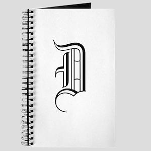 Blackletter Monogram D Journal