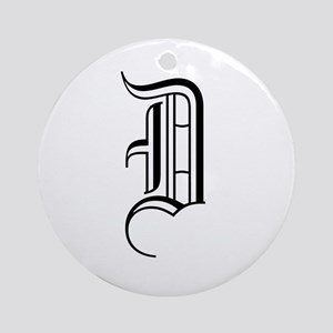 Blackletter Monogram D Ornament (Round)
