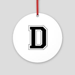 Collegiate Monogram D Ornament (Round)
