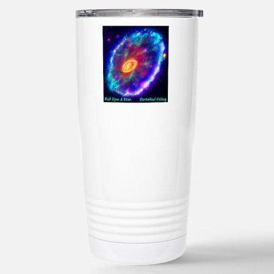 Cartwheel Galaxy Stainless Steel Travel Mug